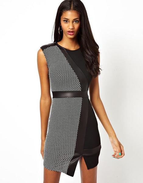 b4a82bcaac1c126 Модное черно-белое платье из сетки Asos - на сайте Odry-style.ru