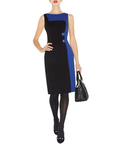 f99817e4112755a Деловое черно-синее трикотажное платье Asos - на сайте Odry-style.ru