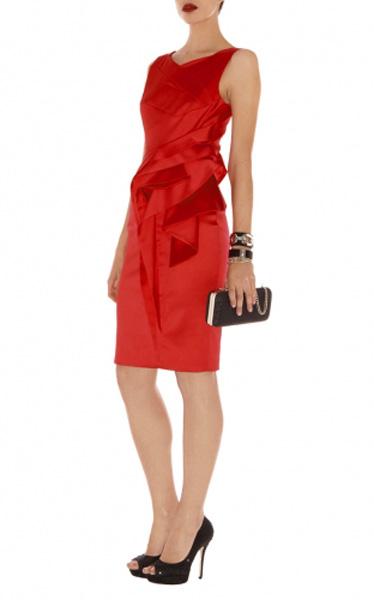 95ca7302134 Красное платье-футляр из атласа Asos - на сайте Odry-style.ru
