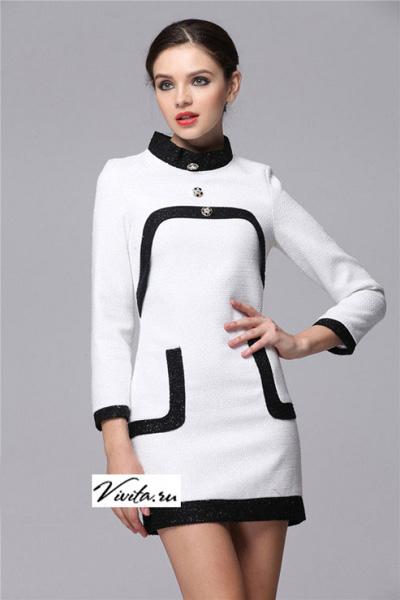 a0c4fa3637581db Черное шерстяное платье с кармашками Chanel - на сайте Odry-style.ru