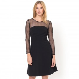Платье с вышитым лифом