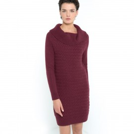 Платье-пуловер с витым узором