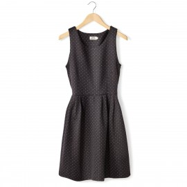 Платье без рукавов, трикотаж с микро-узором
