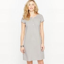 Платье с преобладанием льна