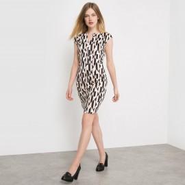 Платье прямое с рисунком