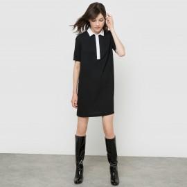 Платье-поло двухцветное