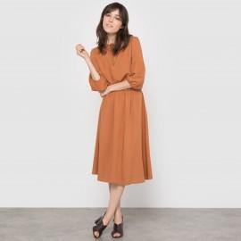 Платье миди из струящейся ткани