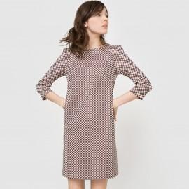 Платье с шахматным узором