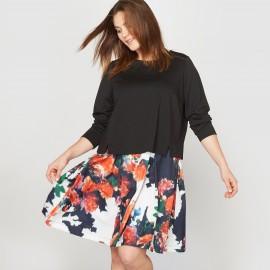 Платье 2 в 1 из двух материалов
