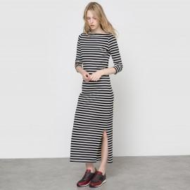Платье длинное в полоску