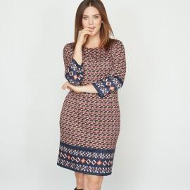 Платье из трикотажа с рисунком