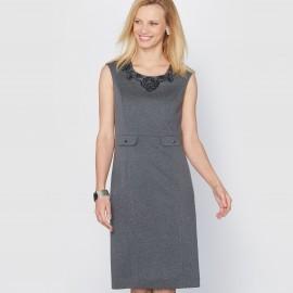 Платье из трикотажа милано