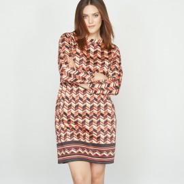 Платье с рисунком из хлопка стрейч