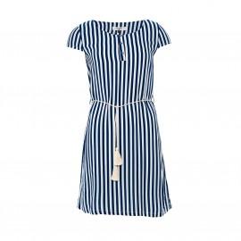 Платье с короткими рукавами в полоску и круглым вырезом, PARAMITA