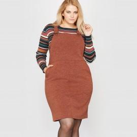 Платье-комбинезон из меланжевого трикотажа