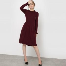 Платье вязаное с воланами