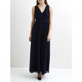 Платье длинное на подкладке, верх в форме бандо, VILA VICOTINA MAXI DRESS