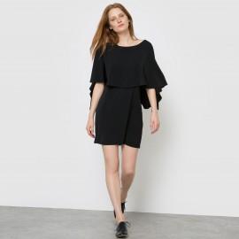 Платье прямого покроя, вырез сзади, наложенные друг на друга детали вверху VERO MODA VIFICA DRESS