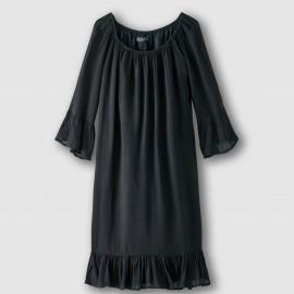 Платье из струящейся вуали, рукава 3/4 VITOLA DRESS