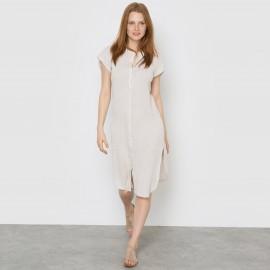 Платье-туника с маленькими рукавами