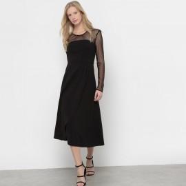 Платье-бюстье с верхом, расшитым гладью