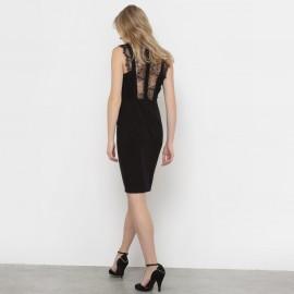 Платье с кружевной спинкой
