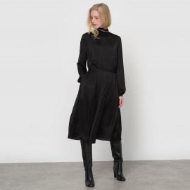 Платье плиссированное с длинными рукавами