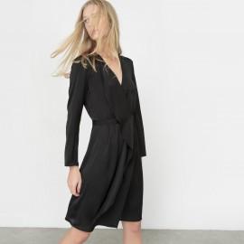 Платье с запахом с длинными рукавами