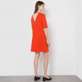 Платье трикотажное с декольте сзади