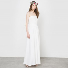 Платье-бюстье свадебное длинное