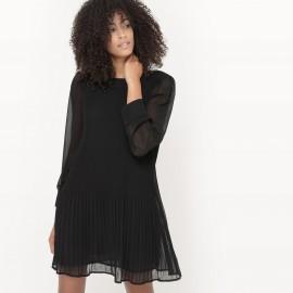 Платье плиссированное, из вуали