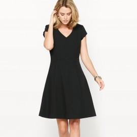 Платье расклешенное из саржи стрейч