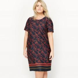 Платье-футляр с цветочным рисунком