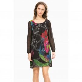 Платье прямое с длинными рукавами, Vest Despina