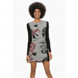 Платье прямое с принтом в клетку, Vest Madrid