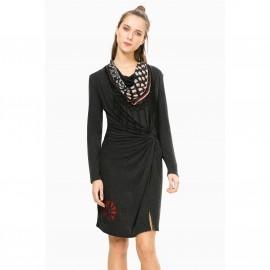 Платье прямое с разрезом, Vest Shelby