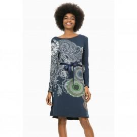 Платье прямое с вырезом-лодочка, Vest Anais
