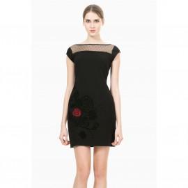 Платье с короткими рукавами, облегающее, Vest Clemente