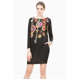 Платье с длинными рукавами и принтом, Vest Estela
