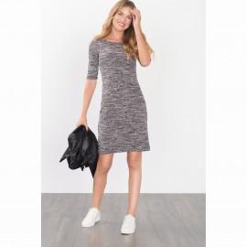 Платье вязаное меланж.