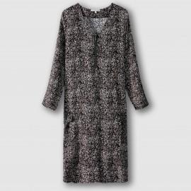 Платье прямого покроя из струящейся ткани