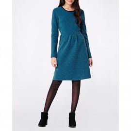 Платье расклешенное с длинными рукавами