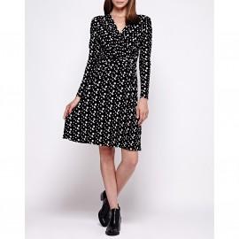 Платье с запахом, с длинными рукавами