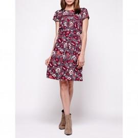 Платье с короткими рукавами, с рисунком