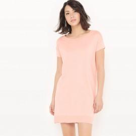 Платье-пуловер из хлопка/шелка
