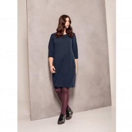 Платье средней длины с карманами на молнии