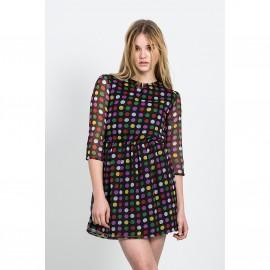 Платье в горошек с рукавом 3/4 GLADSTONE DRESS