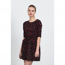 Платье расклешенное с короткими рукавами и рисунком CASINO DRESS