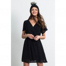 Платье из вышитой вуали POIS DRESS