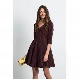 Платье расклешенное с рукавами 3/4, DENA BURDEOS DRESS